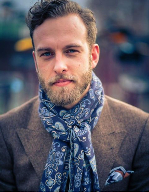 Portrait of Swedish menswear writer Andreas Weinas