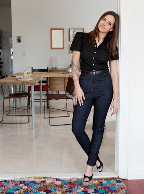 Portrait of fashion designer Caitlin Mociun