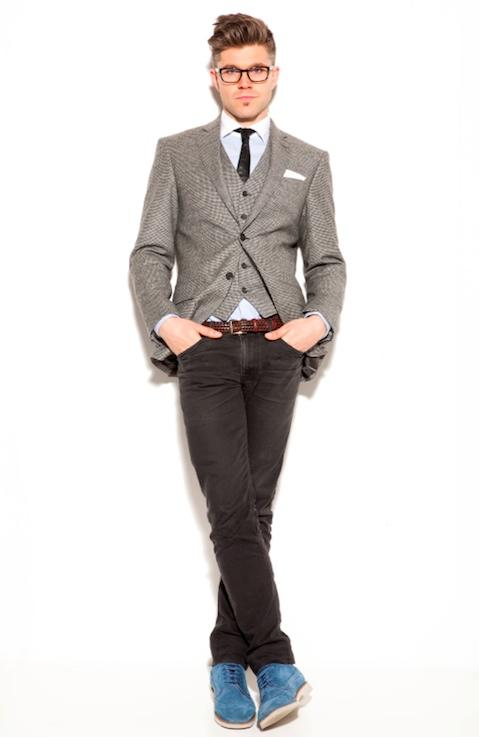 Portrait of British TV presenter Darren Kennedy
