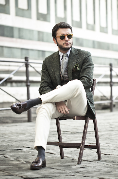 Portrait of Italian fashion blogger Fabio Attanasio