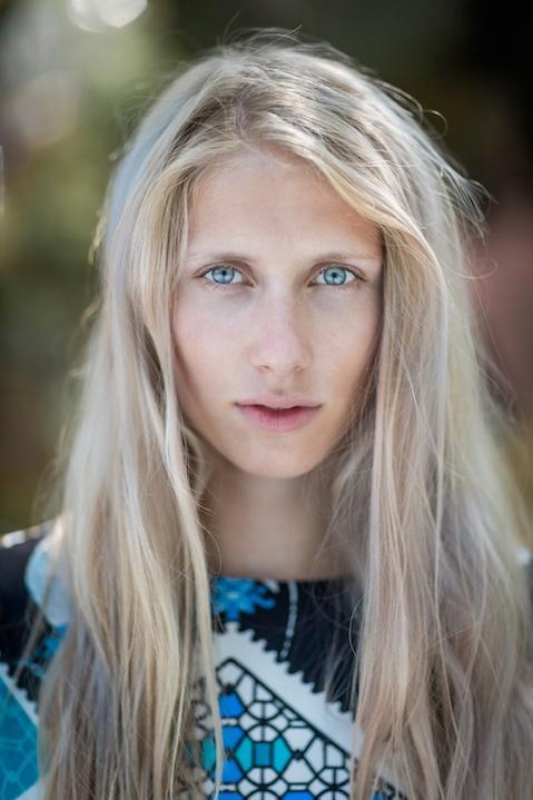 Portrait of Danish fashion blogger Laura Tonder
